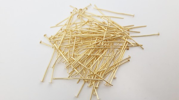 100 grams of brass 40mm Chandelier Pins