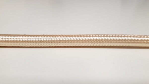 3 CORE PVC OVERBRAID IN CREAM - ELECTRIC CABLE 0.75MM