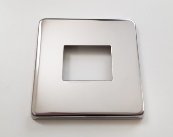 Light Switch Cover Plate Conversion In Victorian Chrome double