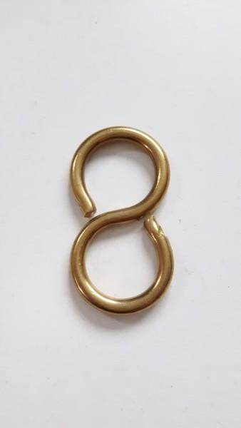 Chandelier hook closed s hook in brass 10kgs max load aloadofball Gallery