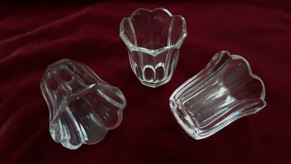 Small vintage Cut Glass Candle Cup
