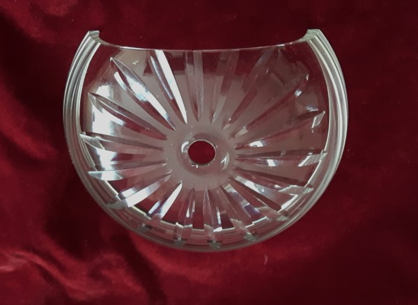 Antique Wall Light glass Receiver Plate 2 sizes available