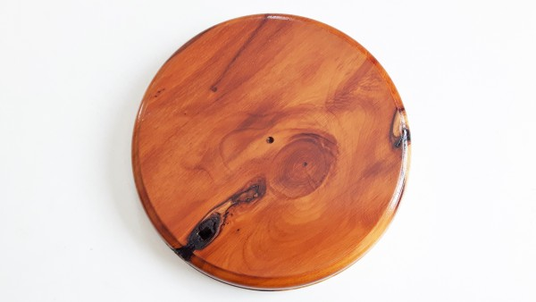 Ceiling Pattress, hardwood pattress manufactured from Yew