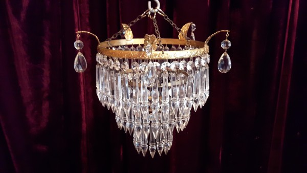Three Tier Chandelier Icicle Lamp Shade SOLD