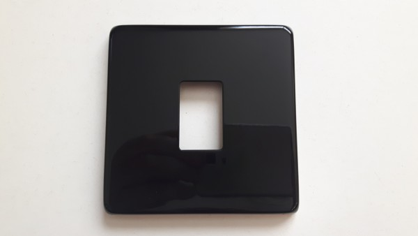 Light single Switch Cover Plate Conversion In black