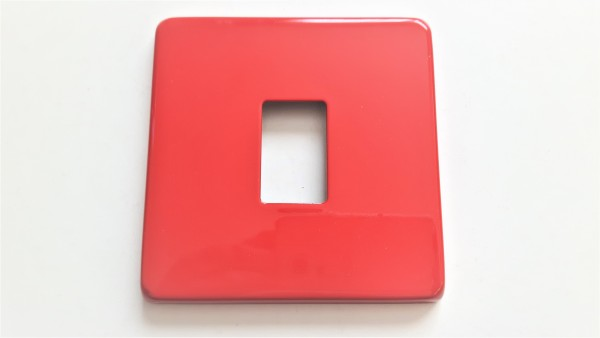 Light single Switch Cover Plate Conversion In Red