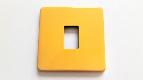 Light single Switch Cover Plate Conversion In yellow