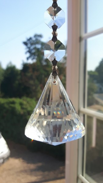 Suncatcher Hanging Crystal Pyramid With 6 Swarovski Octagons