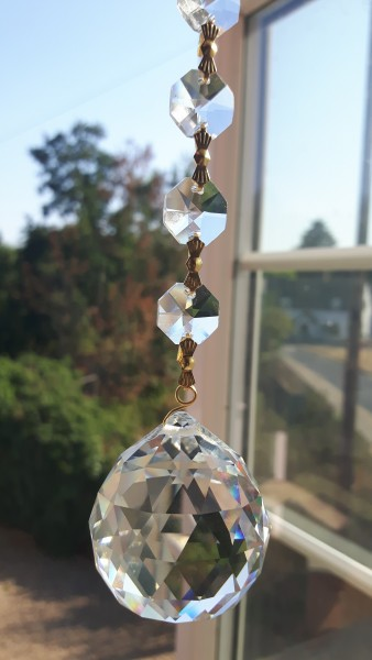 Crystal Sun catcher Hanging Crystal Ball With 5 Swarovski Octagons