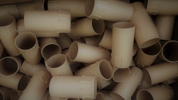 box of 50 Candle Tubes brown Drip Plastic 85mm x 40mm