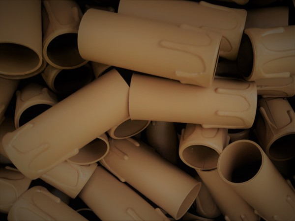 box of 50 Candle Tubes brown Drip Plastic 70mm x 27mm