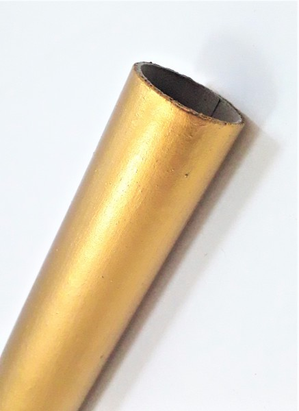 Gold gilded candle tubes in Card various heights 24mm width