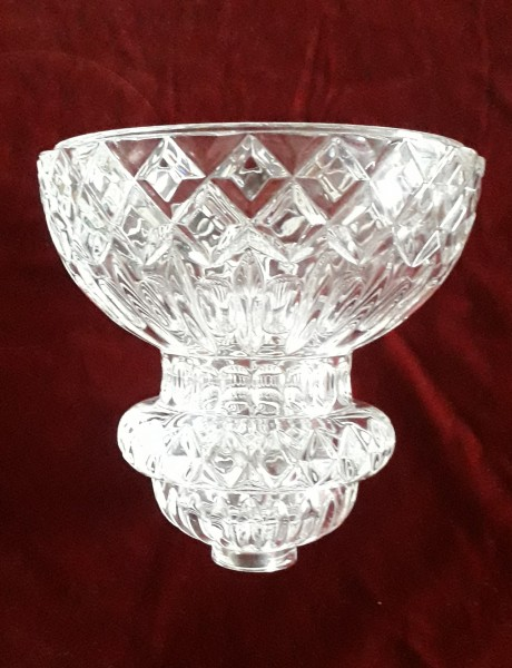 Large crystal chandelier bowl pressed