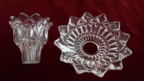 Vintage Chandelier Pan and Candle Cup
