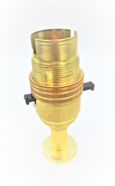 Switched pedastal lamp holder B22 Brass Finish