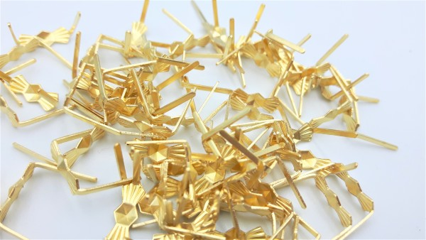 chandelier brass bow clips pins 11mm 100g or 50g bags