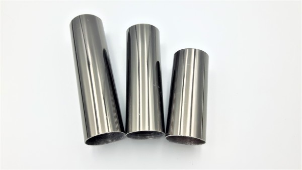 METAL CANDLE TUBES IN BLACK NICKEL 65MM 85MM 100MM