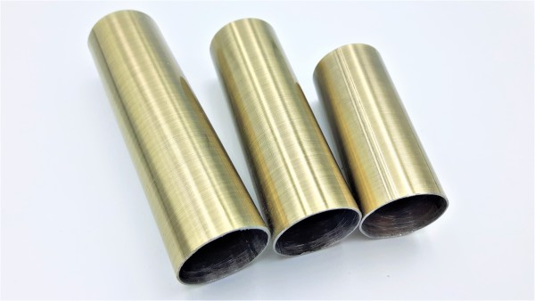 Metal Candle Tubes in Brushed Antique 65mm 85mm 100mm