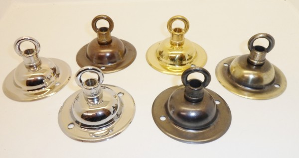 Solid brass ceiling dome closed hook fixing Plate 6 finishes