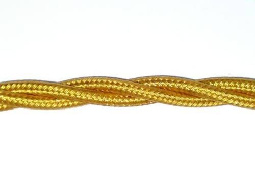 3 Core gold 0.50mm Braided and twisted Silk period Flex Electrical Cable