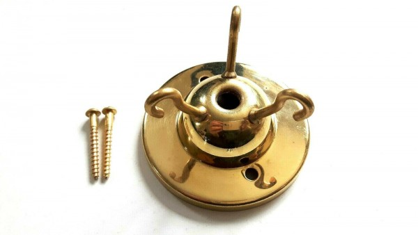 3 hook ceiling rose plate with one and a quarter inch screws Choice of Finishes