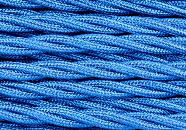 Braided 3 core silk flex lighting cable blue 0.75mm