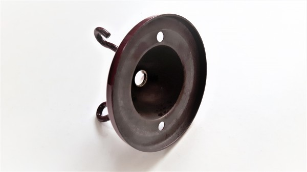 Burgundy triple lighting hook ceiling plate