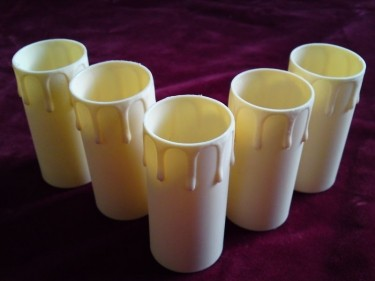 Candle Tubes-sleeves Cream Drip Plastic 39mm x 85mm p
