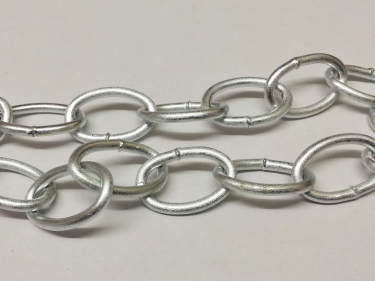 CHANDELIER CHAIN WELDED LINK 1 INCH- IN SILVER FINISH 50KG MAX