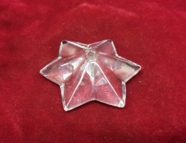 Chandelier 6 Pointed Glass Star