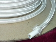 3 CORE ROUND PVC BRAIDED WHITE ELECTRIC CABLE 0.50MM