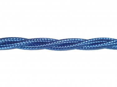Braided 3 core period silk flex cable royal blue 0.50mm