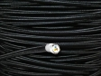 3 CORE ROUND PVC OVERBRAID BLACK ELECTRIC CABLE 0.50MM