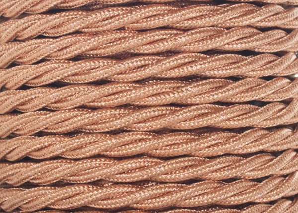 Braided silk flex silk woven electric cable in Copper 0.75mm