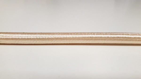 Cream 3 core round overbraid cable 0.50mm Pack of SHORT Lengths