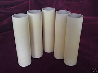 Candle Tubes sleeves Cream Card 85mm x 24mm