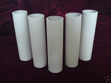 Candle Tube Card White Gloss 100mm x 24mm
