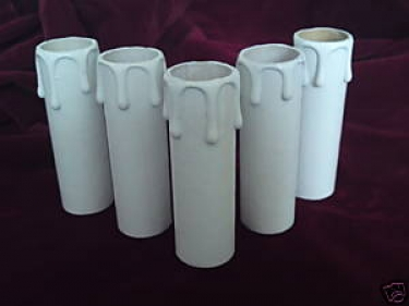Candle Tube White Drip Card 65mm x 24mm