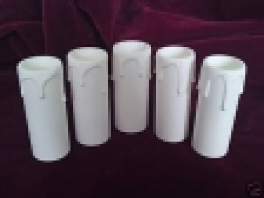 1 X Candle Tube white drip plastic 85MM X 24MM
