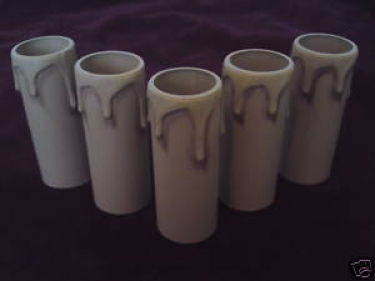 Candle Tube Antique Drip Plastic 90mm x 27mm