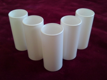5 X GLASS CANDLE COVER IN MATT FROSTED WHITE 85MM X 24MM