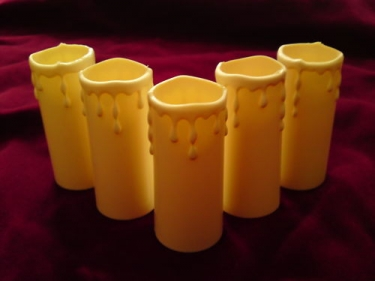 Candle covers ivory Drip effect Plastic 80mm x 33mm