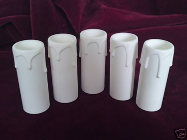 Candle Tube Plastic White Drip 65mm x 24mm