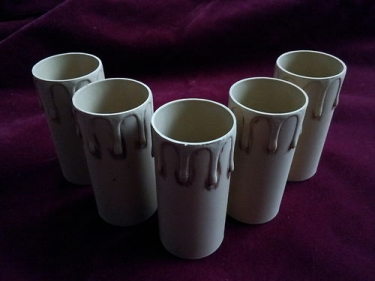 Antique effect plastic drip candle tubes 85mm height x 39mm internal diameter