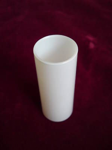 GLASS CANDLE TUBE SLEEVE COVER IN WHITE 85MM X 29MM