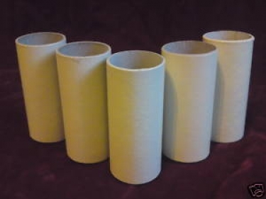 CANDLE TUBES IN MAGNOLIA CARD - 65MM HIGH X 24MM WIDE
