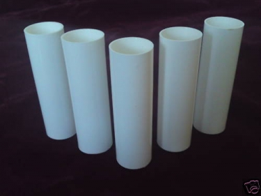 chandelier Candle Tubes sleeves Covers slips White plastic 100mm x 24mm
