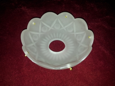 frosted chandelier drip pan tray
