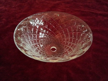 large clear glass murano drip dish or top canopy