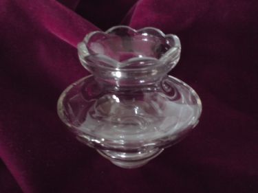 Vintage chandelier glass bowl wax catcher cup